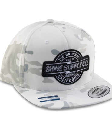 Shine Supply CO Snapback Hat - White Camo