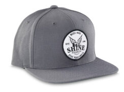"""Work Hard"" Snapback Hat - Steel Gray"